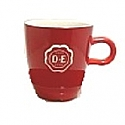 D.E. Senseocup red with a white logo