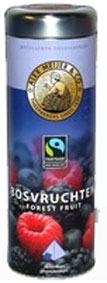 NEW!! Alex Meijer tea, Forest fruit, a can with 20 Pyramid bags � 20 gr .Fairtrade