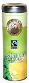 NEW!! Alex Meijer tea,Green tea lemon, a can with 20 Pyramid bags � 20 gr .Fairtrade