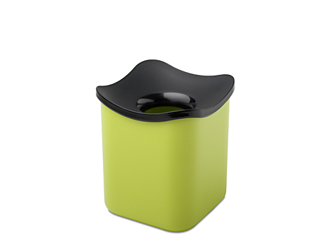 Table wastebin cube- lime