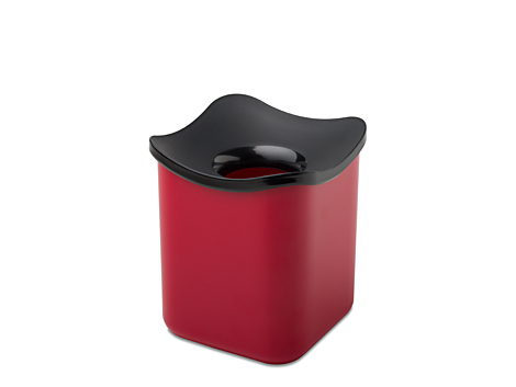 Table wastebin cube- red