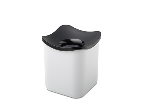 Table wastebin cube- white