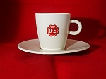 Coffeecup and Saucer exclusively for Espresso with D.E. logo (80ml).