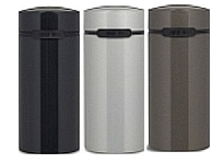 3 High Quality coffeepodcanisters for 24 pods, black, titanium, silver