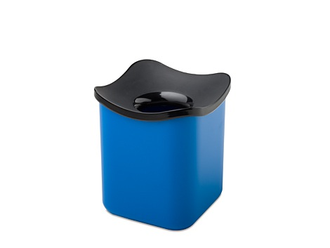 Table wastebin cube- sky blue