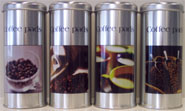 4 Coffeepodcanisters with Coffee-print