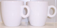 2  white Coffeecups (165ml)