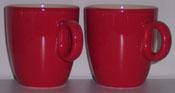 2 red Coffeecups (165ml)