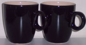 2 black Coffeecups (165ml)