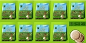 "162 Fairtrade biological coffeepods ""Cafe Natura"" 9x18"